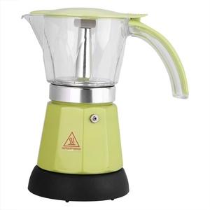 Moka Express Espressokocher,ASHATA Moka Express Espressokocher 300ml Cafe Maker,480W Elektrischer Espressokocher Moka Pot Espressomaschine Kaffeemaschine 2 Farben(Grün)