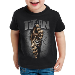 style3 Print-Shirt Kinder T-Shirt Titan Mauerdurchbruch japan anime AoT Titan on Attack 140