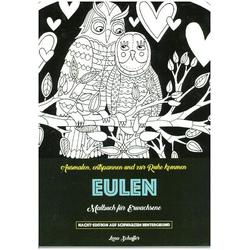 Malbuch für Erwachsene - Eulen als Buch von