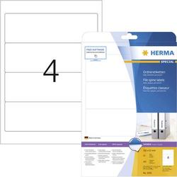 Herma Ordner-Etiketten 5095 61 x 192mm Papier Weiß Permanent 100St.