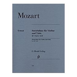 Streichduos  G-Dur KV 423 u. B-Dur KV 424  Violine und Viola. Wolfgang Amadeus - Streichduos KV 423  424 für Violine und Viola Mozart  - Buch