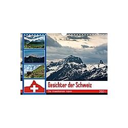 Gesichter der Schweiz - Die Waadtländer Alpen (Wandkalender 2021 DIN A4 quer)