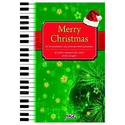 Merry Christmas  für Klavier  Keyboard oder Gitarre - Buch