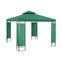 Uniprodo Garden Pavilion - 3 x 3 m - 160 g/m² - dark green UNI_PERGOLA_3X3GF