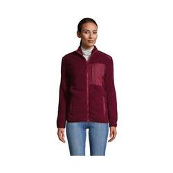 Jacke aus Teddyfleece - L - Rot