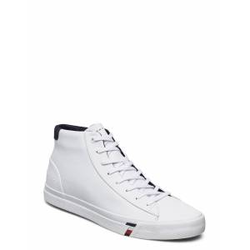 Tommy Hilfiger Corporate Leather Sneaker High Hohe Sneaker Weiß TOMMY HILFIGER Weiß 43,42,41,44,46,40,45