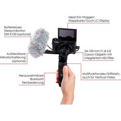 Canon PowerShot G7 X Mark III Kompaktkamera (8,8 – 36,8mm (quivalent zu KB-Vollformat: 24 – 100mm), 20,1 MP, 4,2x opt. Zoom, WLAN (WiFi)