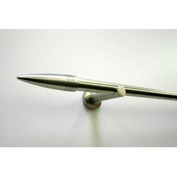 Gardinenstange Gardinenstangen Set Metall, GARDINIA, Ø 16 mm, 1-läufig, Fixmaß, Serie Omega Ø 16 mm x 120 cm
