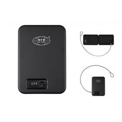 MFH Wertschutztresor Sicherheitskassette, schwarz, Metall, mit Zahlenschloss, mit Zahlenschloss