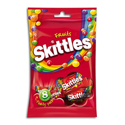 Skittles Party Pack Fruits Kaudragees mit knuspriger Zuckerhülle 6er Pack