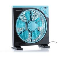 InnovaGoods Bodenventilator Box 30 cm schwarz/blau