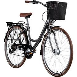 Zündapp Z700 700c Damenfahrrad Hollandrad Damenrad Fahrrad Stadtrad 28 Zoll... 46 cm, grau/braun/silber