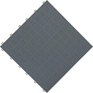 florco® Terrassenplatten grip, 40x40 cm, 6-St., Klickfliesen silberfarben