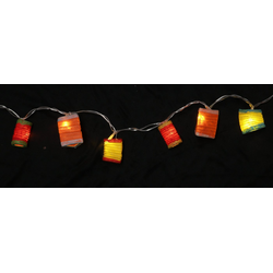 Guru-Shop LED-Lichterkette LED Lichterkette Lampions - mix bunt 2