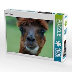 Alpaka Augen Lege-Größe 64 x 48 cm Foto-Puzzle Bild von Kattobello Puzzle