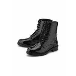 Schnür-Boots Schnür-Stiefelette COX schwarz