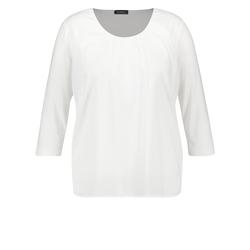 Shirt mit Chiffon-Mix Samoon Offwhite