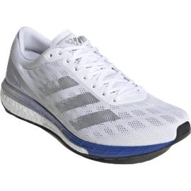 adidas Adizero Boston 9 M cloud white/silver metallic/royal blue 40 2/3