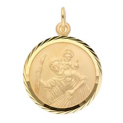 Adelia´s Kettenanhänger 333 Gold Anhänger Christophorus Ø 16 mm