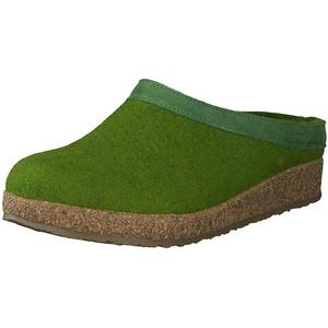 Haflinger Unisex-Erwachsene Grizzly Torben Pantoffeln, Grün (Grasgrün 36), 41 EU