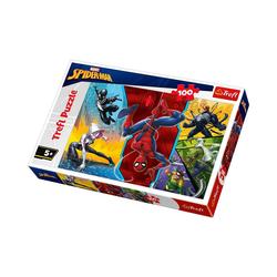 Trefl Puzzle Puzzle 100 Teile - Marvel Spiderman, Puzzleteile