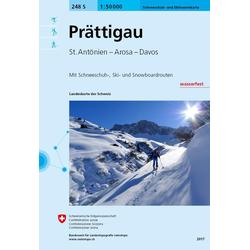 Swisstopo 1 : 50 000 Prättigau Ski
