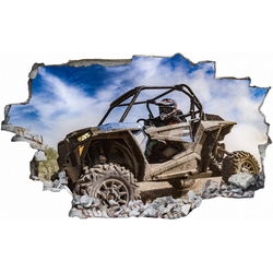 DesFoli Wandtattoo Buggy Offroad Piste Sportmotor C2538 150 cm x 98 cm