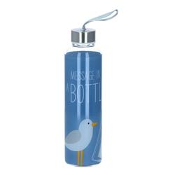 PPD Trinkflasche Glasflasche Beach 550 ml blau