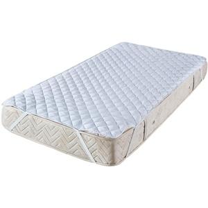 Style Heim Matratzen Topper Auflage Matratzenschoner 100x200 cm für Bett und Boxspringbett Quadratsteppung Atmungsaktive Microfaser Matratzenauflage Matratzentopper Nässeschutz, Weiß