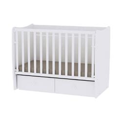 Lorelli Komplettbett Babybett MATRIX NEW, Babyschaukel, 2 Schubladen, Kinderbett, 120 x 60 cm weiß