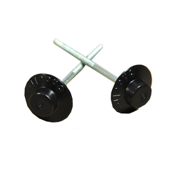Onduline Dachbahn ONDULINE Dachnägel Nägel für Dachplatten Wandplatten 65 mm Kopf rund schwarz 400 Stk., Rund, (400-St)