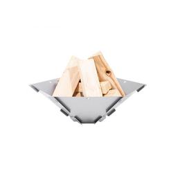FENNEK Feuerschale Hexagon - Feuerschale zum Stecken aus 100% Edelstahl - 59x50x18,5cm