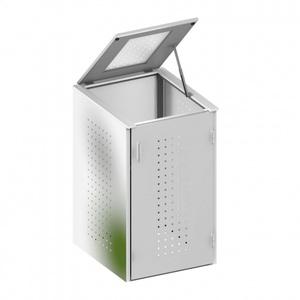 Binto Mülltonnenbox Edelstahl mit Klappdeckel