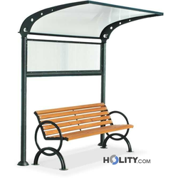 Überdachung für Sitzbänke h140182