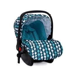 Moni Babyschale Kindersitz, Babyschale Sarah Gruppe 0+, 3 kg, (0 - 13 kg) mit Fußabdeckung blau