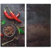 Zeller Present Schneide- und Abdeckplatte Chilli, ESG-Sicherheitsglas, Silikonfüßen 30 cm x 52 cm