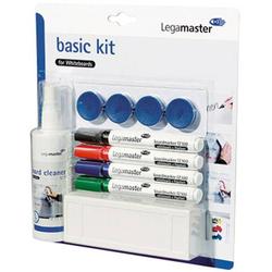 Legamaster 7-125100 basic Kit for Whiteboards Whiteboardmarker Schwarz, Blau, Rot, Grün inkl. Tafel