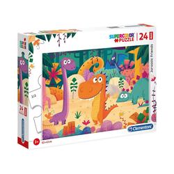 Clementoni® Puzzle Puzzle 24 Teile Maxi - Jurassic Friends, Puzzleteile