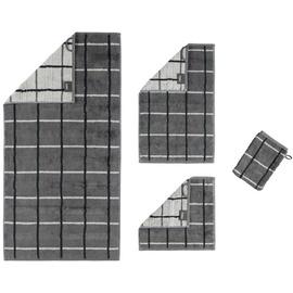 CAWÖ Noblesse Square 1079 Waschhandschuh 16 x 22 cm grau