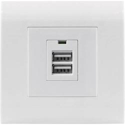 Intellinet 772181 Unterputz-Steckdose mit USB Weiß