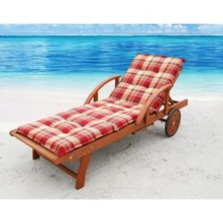 Grasekamp Auflage Sommerfrisch für Gartenliege  Liegestuhl Sonnenliege Relaxliege