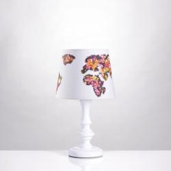 Tischlampe Weltkarte Blumen