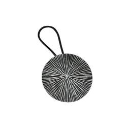 Gardinenring Raffband Kreis silber-antik Ø 7,5 cm, GARDINIA