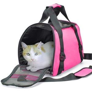 Zhuhaixmy Haustier Transportbox Transporttasche Faltbare Hunde Tragetaschen Katzentasche Leichtgewicht Stoff Reise Handtasche