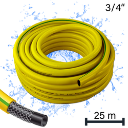 Profi Gartenschlauch / Wasserschlauch 3/4 Zoll / 25 m gelb