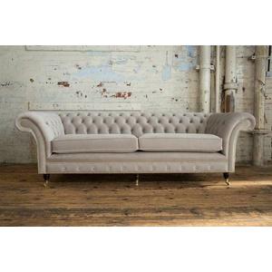 Blaue Chesterfield Couch Textil 4 Sitzer Xxl Big Sofa Couchen Xxl Neu Polster