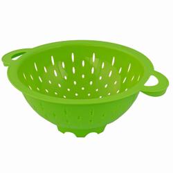 Gies greenline Seiher, Küchensieb ideal zum Waschen von Salat, Obst oder zum Abtropfen von Nudeln, Farbe: grün