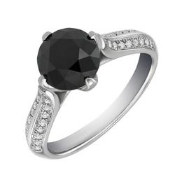 Origineller Verlobungsring aus Gold mit schwarzem Diamant 2.47ct Ida
