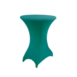 Stehtischhusse, dynamic24, Premium Gastro Stretch Tisch Husse für Stehtische Ø 60-70cm Bistrotisch Stehtisch Überwurf Tischdecke grün