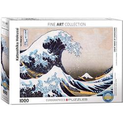 empireposter Puzzle Hokusai - Die grosse Welle vor Kanagawa - 1000 Teile Puzzle im Format 68x48 cm, 1000 Puzzleteile